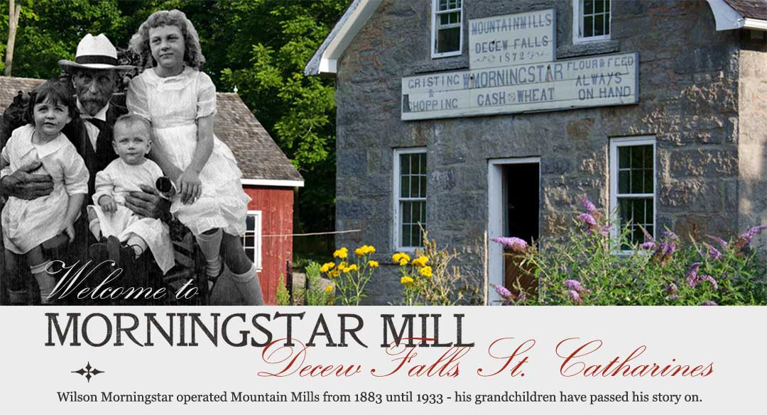 Wilson Morningstar with his Grandchildren and the Mill